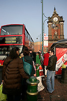 Bexleyheath town centre and clocktower: waiting for a bus