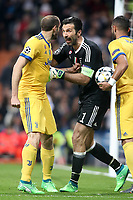 Juventus Football Club's Giorgio Chielini (l) and Gianluigi Buffon during Champions League Quarter-Finals 2nd leg match. April 11,2018. (ALTERPHOTOS/Acero) /NortePhoto.com