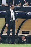 MILANO 28 MARZO 2012, MILAN - BARCELLONA,QUARTI DI FINALE UEFA CHAMPIONS LEAGUE 2011 - 2012, NELLA FOTO:ALLEGRI , FOTO DI ROBERTO TOGNONI.