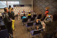 18-12-13,Netherlands, Rotterdam,  Topsportcentrum, Tennis Masters, Kids in press conference<br /> Photo: Henk Koster
