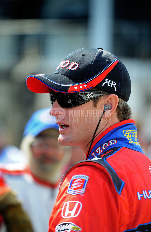 May 28, 2010; Indianapolis, IN, USA; IndyCar Series driver Ryan Hunter-Reay during carb day prior to the Indianapolis 500 at the Indianapolis Motor Speedway. Mandatory Credit: Mark J. Rebilas-