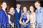 Dress to Impress<br /> ----------------------<br /> Attending their debs were students from Killorglin Intermediate school last Wednesday night in the Ballyroe Heights hotel, Tralee L-R Eoin Foran, Hannah Noonan, Ross Brennan, Eimear O'Grady, Lorne O'Neill and John B O'Riordan.