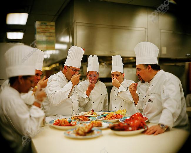 Red Lobster testing kitchen. Orlando, Florida. June-October 2006.