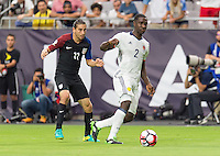Glendale, AZ - Saturday June 25, 2016: Alejandro Bedoya, Cristian Zapata during a Copa America Centenario third place match match between United States (USA) and Colombia (COL) at University of Phoenix Stadium.