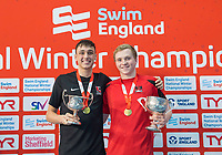 Picture by Allan McKenzie/SWpix.com - 17/12/2017 - Swimming - Swim England Nationals - Swim England National Championships - Ponds Forge International Sports Centre, Sheffield, England - William Bell and Joe Litchfield with gold's in the mens 200m individual medley.