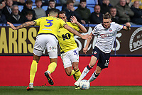 Bolton Wanderers' Craig Noone goes past Blackburn Rovers' Derrick Williams<br /> <br /> Photographer Andrew Kearns/CameraSport<br /> <br /> The EFL Sky Bet Championship - Bolton Wanderers v Blackburn Rovers - Saturday 6th October 2018 - University of Bolton Stadium - Bolton<br /> <br /> World Copyright © 2018 CameraSport. All rights reserved. 43 Linden Ave. Countesthorpe. Leicester. England. LE8 5PG - Tel: +44 (0) 116 277 4147 - admin@camerasport.com - www.camerasport.com