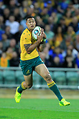 9th September 2017, nib Stadium, Perth, Australia; Supersport Rugby Championship, Australia versus South Africa; Israel Folau of the Australian Wallabies catches the ball during play in the first half