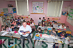 Principal of Blennerville National in class on Friday with his pupils....   Copyright Kerry's Eye 2008