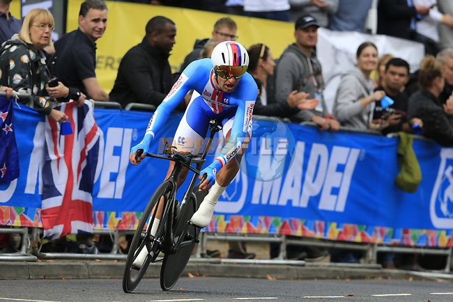 Jan Barta (CZE) in action during the Men Elite Individual Time Trial of the UCI World Championships 2019 running 54km from Northallerton to Harrogate, England. 25th September 2019.<br /> Picture: Eoin Clarke | Cyclefile<br /> <br /> All photos usage must carry mandatory copyright credit (© Cyclefile | Eoin Clarke)