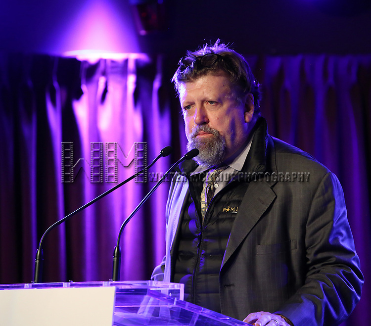Oskar Eustis on stage during the Second Annual SDCF Awards, A celebration of Excellence in Directing and Choreography, at the Green Room 42 on November 11, 2018 in New York City.