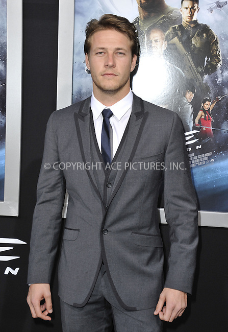 WWW.ACEPIXS.COM....March 28 2013, LA....Luke Bracey arriving at the 'G.I. Joe: Retaliation' Los Angeles premiere at the TCL Chinese Theatre on March 28, 2013 in Hollywood, California.......By Line: Peter West/ACE Pictures......ACE Pictures, Inc...tel: 646 769 0430..Email: info@acepixs.com..www.acepixs.com