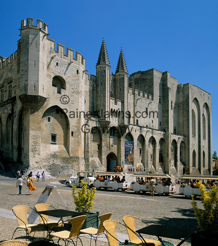 France, Provence, Avignon: Palais Des Papes | Frankreich, Provence, Avignon: Papstpalast
