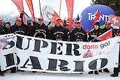 7th January 2018, Val di Fiemme, Fiemme Valley, Italy; FIS Cross Country World Cup, Tour de ski; Mens 9km F Pursuit; Dario Cologna (SUI) fans show their support