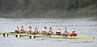 London, Great Britain,  Agecroft RC, rowing past Chiswick Pier, during the 2012 Head of the River Race, raced over Rowing Course Championship course,  Mortlake to Putney  4.25 Miles, on the River Thames Saturday  03/03/2012 [Mandatory Credit: © Peter Spurrier/Intersport Images]