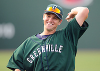 April 2, 2008: Outfielder David Mailman (11) of the Greenville Drive, Class A affiliate of the Boston Red Sox, during Media Day at Fluor Field at the West End in Greenville, S.C. Photo by:  Tom Priddy/Four Seam Images