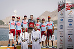 Team Katusha Alpecin win the overall team prize after Stage 6 of the 10th Tour of Oman 2019, running 135.5km from Al Mouj Muscat to Matrah Corniche, Oman. 21st February 2019.<br /> Picture: ASO/P. Ballet | Cyclefile<br /> All photos usage must carry mandatory copyright credit (&copy; Cyclefile | ASO/P. Ballet)
