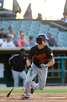 Kyle Waldrop #25 of the Bakersfield Blaze bats against the Lancaster JetHawks at The Hanger on July 2, 2013 in Adelanto, California. Lancaster defeated Bakersfield, 12-1. (Larry Goren/Four Seam Images)