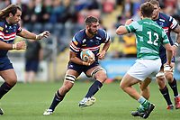 Nick Civetta of Doncaster Knights in possession. Pre-season friendly match, between Doncaster Knights and Newcastle Falcons on August 25, 2018 at Castle Park in Doncaster, England. Photo by: Patrick Khachfe / Onside Images