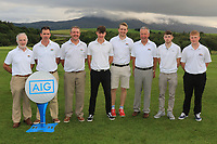 The Enniscrone Team for the Final of the Junior Cup in the AIG Cups & Shields Connacht Finals 2019 in Westport Golf Club, Westport, Co. Mayo on Thursday 8th August 2019.<br /> <br /> Kyran Hurley, Joseph Forde Jnr, Padraic Clince, Cormac Feeney, Robert Jacob, John Kelly (Team Captain), Jonathan Queenan and Connor Ruddy.<br /> <br /> Picture:  Thos Caffrey / www.golffile.ie<br /> <br /> All photos usage must carry mandatory copyright credit (© Golffile | Thos Caffrey)
