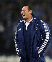 FUSSBALL   1. BUNDESLIGA   SAISON 2011/2012    15. SPIELTAG FC Schalke 04 - FC Augsburg            04.12.2011 Trainer Huub STEVENS (Schalke) emotional