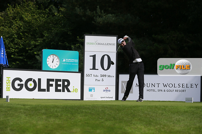 Kevin LeBlanc (IRL) during round 1 of the Irish Challenge, Mount Wolseley Hotel and Golf Resort, Tullow, Co Carlow, Ireland 14/09/2017<br /> Picture: Fran Caffrey / Golffile<br /> <br /> All photo usage must carry mandatory copyright credit (&copy; Golffile | Fran Caffrey)