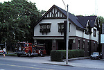 Neighbourhood fire station Toronto architecture buildings downtown Ontario Canada<br />