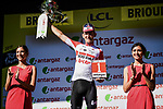 Tiesj Benoot (BEL) Lotto-Soudal wins the day's combativity prize at the end of Stage 9 of the 2019 Tour de France running 170.5km from Saint-Etienne to Brioude, France. 14th July 2019.<br /> Picture: ASO/Pauline Ballet | Cyclefile<br /> All photos usage must carry mandatory copyright credit (© Cyclefile | ASO/Pauline Ballet)