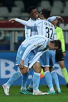Miroslav Klose Lazio esultanza dopo il gol, Goal Celebration, Torino 14-01-2015, Stadio Olimpico, Football Calcio 2014/2015 Coppa Italia, Torino - Lazio, Foto Marco Bertorello/Insidefoto