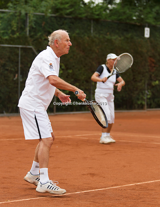 2013,August 24,Netherlands, Amstelveen,  TV de Kegel, Tennis, NVK 2013, National Veterans Tennis Championships,   Mixed Doubles<br /> Photo: Henk Koster