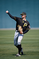 Pittsburgh Pirates Conner Uselton (43) warms up before a Minor League Spring Training game against the Atlanta Braves on March 13, 2018 at Pirate City in Bradenton, Florida.  (Mike Janes/Four Seam Images)