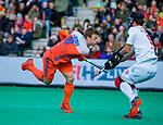ROTTERDAM - Mink van der Weerden (NED) neemt strafcorner,    tijdens   de Pro League hockeywedstrijd heren, Nederland-Spanje (4-0) . COPYRIGHT KOEN SUYK