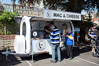 A general view of the Evie's Mac & Cheese stand. Aviva Premiership match, between Bath Rugby and London Irish on May 5, 2018 at the Recreation Ground in Bath, England. Photo by: Patrick Khachfe / Onside Images