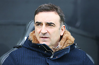 Swansea City manager Carlos Carvalhal prior to kick off of the Premier League match between Swansea City and Burnley at the Liberty Stadium, Swansea, Wales, UK. Saturday 10 February 2018