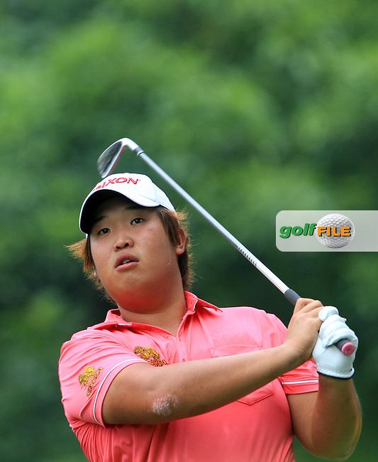 Baek Seuk-hyun (KOR) on the 16th on Day 1 of the Maybank Malaysian Open 2012 at Kuala Lumpur Golf and Country Club, Kuala Lumpur, Malaysia...(Photo Jenny Matthews/www.golffile.ie)