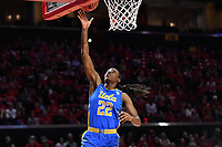 College Park, MD - March 25, 2019: UCLA Bruins guard Kennedy Burke (22) scores an easy break away layup during second round game of NCAAW Tournament between UCLA and Maryland at Xfinity Center in College Park, MD. UCLA advanced to the Sweet 16 defeating Maryland 85-80.(Photo by Phil Peters/Media Images International)