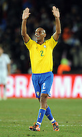 Maicon of Brazil celebrates his side's winning goal. Brazil defeated USA 3-2 in the FIFA Confederations Cup Final at Ellis Park Stadium in Johannesburg, South Africa on June 28, 2009.