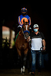 Maximum Security and Abel Cedillo before the San Diego Handicap at Del Mar, in Del Mar Ca, July 25, 2020. (Photo: Alex Evers)