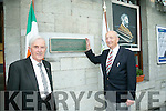 At the Iarnrod Eireann 1916 Commemoration of Roger Casement at Tralee Station on Saturday were Sean Joseph O'Conchuir and James Mackey who were present at the naming of Casement Station 50 years ago