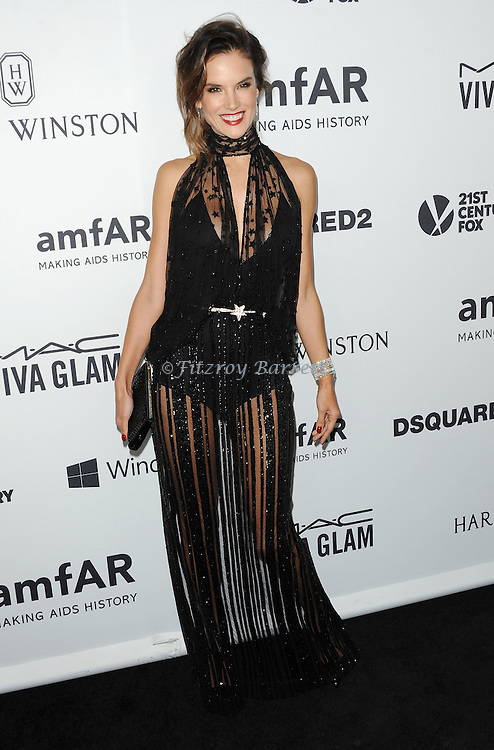 Alessandra Ambrosio arriving at Amfar's Inspiration Gala held at Milk Studios in Los Angeles, CA. October 29, 2015