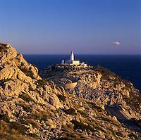 Spain, Balearic Islands, Mallorca, Lighthouse at Cap de Formentor at dawn