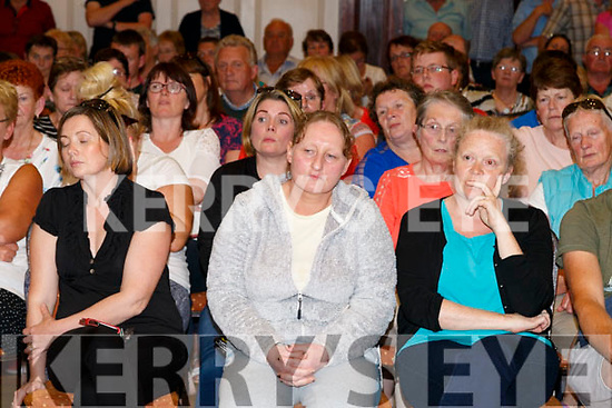 Robert Elston former partner Karen ? at the public meeting held in ther Ring of Kerry Hotel Cahersiveen on Tuesday night.