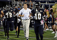 Florida International University football Head Coach Mario Cristobal during the game against Troy University on October 26, 2011 at Miami, Florida. FIU won the game 23-20 in overtime. .