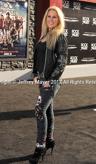 HOLLYWOOD, CA - JUNE 08: Lita Ford arrives at the 'Rock Of Ages' - Los Angeles Premiere at Grauman's Chinese Theatre on June 8, 2012 in Hollywood, California.