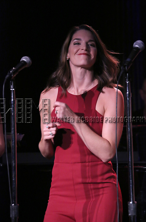 Kelli Barrett performing at The Lilly Awards Broadway Cabaret at the Cutting Room on October 17, 2016 in New York City.
