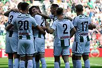 GRONINGEN - Voetbal, FC Groningen - FC Utrecht,  Eredivisie , Noordlease stadion, seizoen 2017-2018, 27-08-2017,   Groningen viert de 1-0