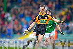 Mikey Collins Austin Stacks in action against Flor McAulliffe Saint Kierans in the Quarter Finals of the County Championship at Austin Stack Park on Sunday.