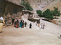 Iraq 1980 <br /> In the village of Shene,women visiting their relatives fighting in the mountains<br /> Irak 1980<br /> Dans le village de Shene, femmes venant rendre visite a leurs parents peshmergas