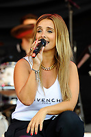 BRIGHTON, ENGLAND - AUGUST 4: Louise performing at Brighton and Hove Pride, Preston Park on August 4, 2018 in London, England.<br /> CAP/MAR<br /> &copy;MAR/Capital Pictures