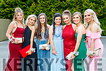 Kata Vincze, Liveta Kuleviciute, Aoife Murphy, Molly Barton, Kate Hickey, Mairead Lehane Leah Clarke, Ella Morgan, pictured at MIlltown Presentation Secondary School Debs, held at the Earl of Desmond Hotel, Tralee, on Thursday, July 25th last.