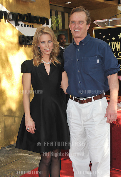 Cheryl Hines &amp; Robert F. Kennedy Jr. on Hollywood Boulevard where she was honored with the 2,516th star on the Hollywood Walk of Fame.<br /> January 29, 2014  Los Angeles, CA<br /> Picture: Paul Smith / Featureflash